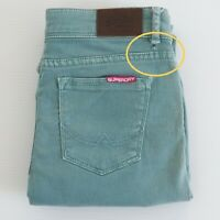 SUPERDRY Womens Jeans Size W26 x L32 Mid Rise Skinny Straight Aqua Green