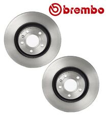 Pair Set of 2 Rear Disc Brake Rotors Brembo 09A81411 For Audi S4 2004-2009