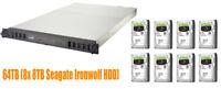 €2342+IVA Seagate STDP Business Storage Rack NAS 64TB (8x 8TB IronWolf) 2xPSU