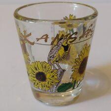 """Kansas Sunflower 2.25"""" Collectible Shot Glass (3-31)"""