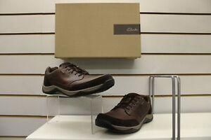 Clarks Baystonego GTX Waterproof Mahogany Brown Leather Shoe UK 10 EU 44.5 G Fit
