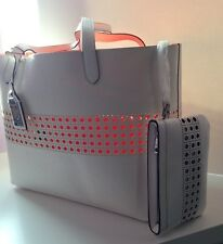 LAUREN Ralph Lauren Leighton Tote (White/Orange) with pouch - RRP £185
