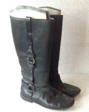Women's Black Leather FRYE #77540 Harness Paige Loop Pull On Riding Boots 9B