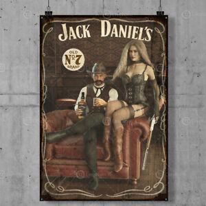 Jack Daniel's Vintage Metal Tin Plaque Signs Man Cave Pub Club Cafe TIKI BAR