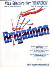 BRIGADOON Vocal Selections 9 TOP songs ORIGINAL Sheet Music Book in EC