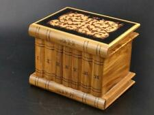 More details for italian marquetry wood sorrento puzzle box stack of books