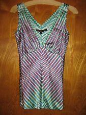 A Common Thread Rozae Nichols S silk sleeveless white pink green top shirt cami