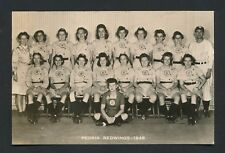 1946 PEORIA REDWINGS Girls Professional Baseball Real Photo Postcard (AAGPBL)
