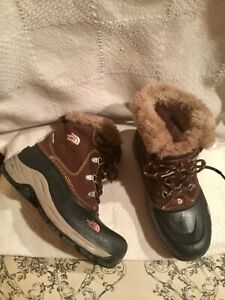 THE NORTH FACE Heat Seeker Brown Suede Lace Up Insulated Ankle Boots Sz.6 Girls