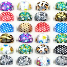 20PC Mixed Bulks Fashion Resin Children Kids Colorful Friends Rings Jewelry