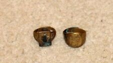 1940'S DICK TRACY HAT & SECRET COMPARTMENT PREMIUM RING METAL GOLD COLORED