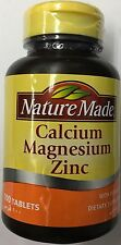 2 Pack Of Nature Made Calcium Magnesium Zinc with Vitamin D3 - 100 tablets X 2