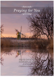 Praying for You Card Any Occasion Religious Thinking of You. Windmill