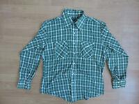 """Men's Vintage JC Penney L 46"""" Colourful Check Flannel Shirt K3-B4"""