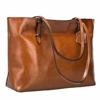 Leather Tote Bag for Women Large Commute Handbag Shoulder Bag Lady Zipper Women