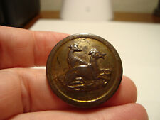Antique brass tinted/painted 2 WHIPPITS/GREYHOUND dogs Sporting button
