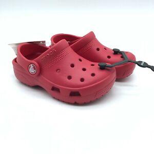Crocs Toddler Boys Girls Coast Clog Rubber Slip On Red Size 9