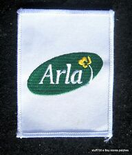 "ARLA FOOD EMBROIDERED SEW ON PATCH DAIRY COOP ARHUS DENMARK  3"" x 4"""