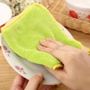 1x Microfiber Dishcloth Square Kitchen Washing Cleaning Towel Dish Cloth