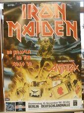 Iron Maiden: No Prayer 60cm X 85cm (approximately) '90   German Tour Poster