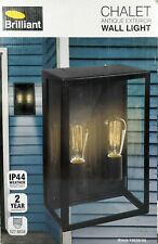 Large Outdoor Chalet Wall Light  - Antique Exterior Fitting Black
