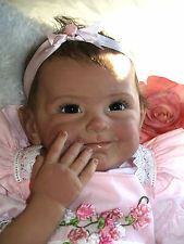 Realistic Hair Rooted Lifelike Soft Vinyl Silicone Newborn Baby Reborn Dolls