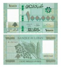 Lebanon 2021 100,000 UNC New signature Banknote top value PCLB 135a