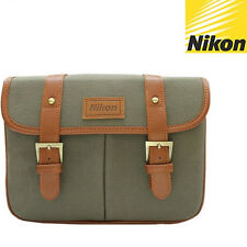 Nikon D600 D610 D500 D400 D300 Df Df2 D-SLR Camera Small Shoulder Bag /Khaki