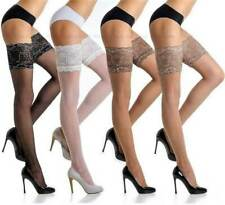 Fiore High Quality Hold Up Stockings Deep Lace Top Sexy Stay Ups 20 Den Denier