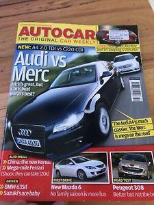 Autocar car magazine OCT 2007 A4 C CLASS 6 ARNAGE 308 635D i30 360 R32 A5 CUPRA