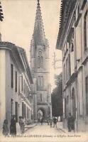 CPA 33 LUSSAC DE LIBOURNE L'EGLISE SAINT PIERRE (cliché pas courant