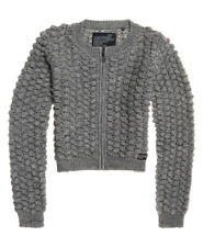 Superdry Womens Bobble Stitch Zip Up Bomber Knit