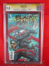 Dc Comic Aquaman #23.1 Cgc Ss 9.8 Signed Paul Pelletier Lenticular Cover Manta 1