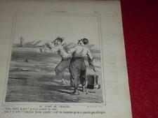 CHAM / LITOGRAFÍA ORIGINAL CHARIVARI 1865 / NOTICIAS 329 ABD EL-KADER