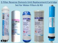 5 Filter Replacement Cartridge Set for RO Reverse Osmosis Water Filter Units 475