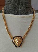 Beautiful vintage Goldtone Lions head necklace estate find