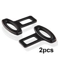 2Pcs Clasp Plug Cars Auto Seat Belt Extender Safe Buckle Clip Alarm Stopper Set