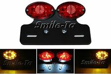 Custom RED / BLACK Motorcycle Motorbike LED Rear Stop Tail Light Trike Project