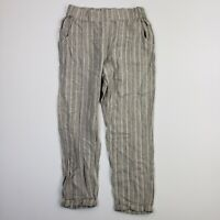 Vince Women's Slim Leg Trousers Striped Dress Casual Office Cropped Cuff Small