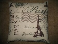 """French Decor:  Down Filled French Print Pillow w/ zippered cover ~17.5"""" X ~17.5"""""""