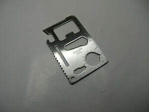 Credit Card / Pocket Stainless Steel Multi Tool 10 Tools in One
