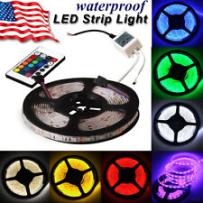Remote RGB Boat Waterproof 5M 5050 SMD 300 LED Flexible Strip Light 24 Key 12V