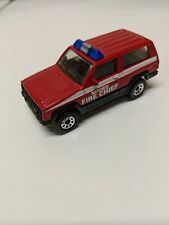 Matchbox Jeep Cherokee Fire Chief 1986 Red Made in China 1:58