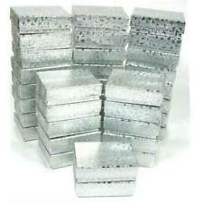 36 Cotton Boxes Silver Pendant Chain Jewelry Displays
