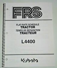 Kubota Dealers L4400 Tractor Flat Rate Schedule Manual Catalog Book OEM 9/04