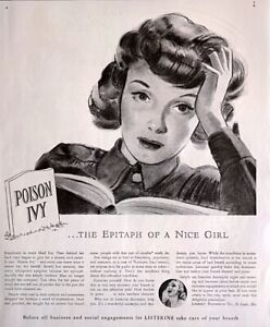 1941 Art Print Ad LISTERINE Mouthwash  Woman Troubled Worried Wanting Bewildered