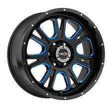 "17"" Vision Off Road 399 Fury Black w/ Blue Tint Wheel 17x8.5 5x5 0mm Truck Rim"