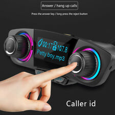 FM Transmitter Bluetooth Car Suit Handsfree A2DP AUX Audio Player Screen Display