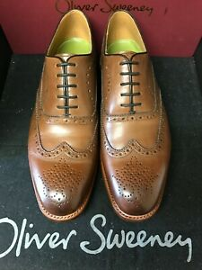 oliver sweeney, brand new GOODYEAR WELTED, TAN LEATHER BROGUE ,SIZE 9.5 UK