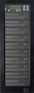 MediaStor #a44 1-9, 9 Target 24X DVD Duplicator, Copy USB Flash Thumb to DVD